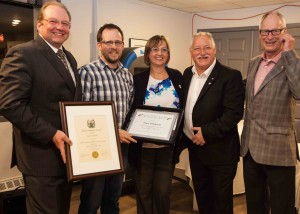 Kevin O'Halloran wins Adult Volunteer of the Year for Waverley, Fall River, Beaver Bank Volunteer of the Year Award.